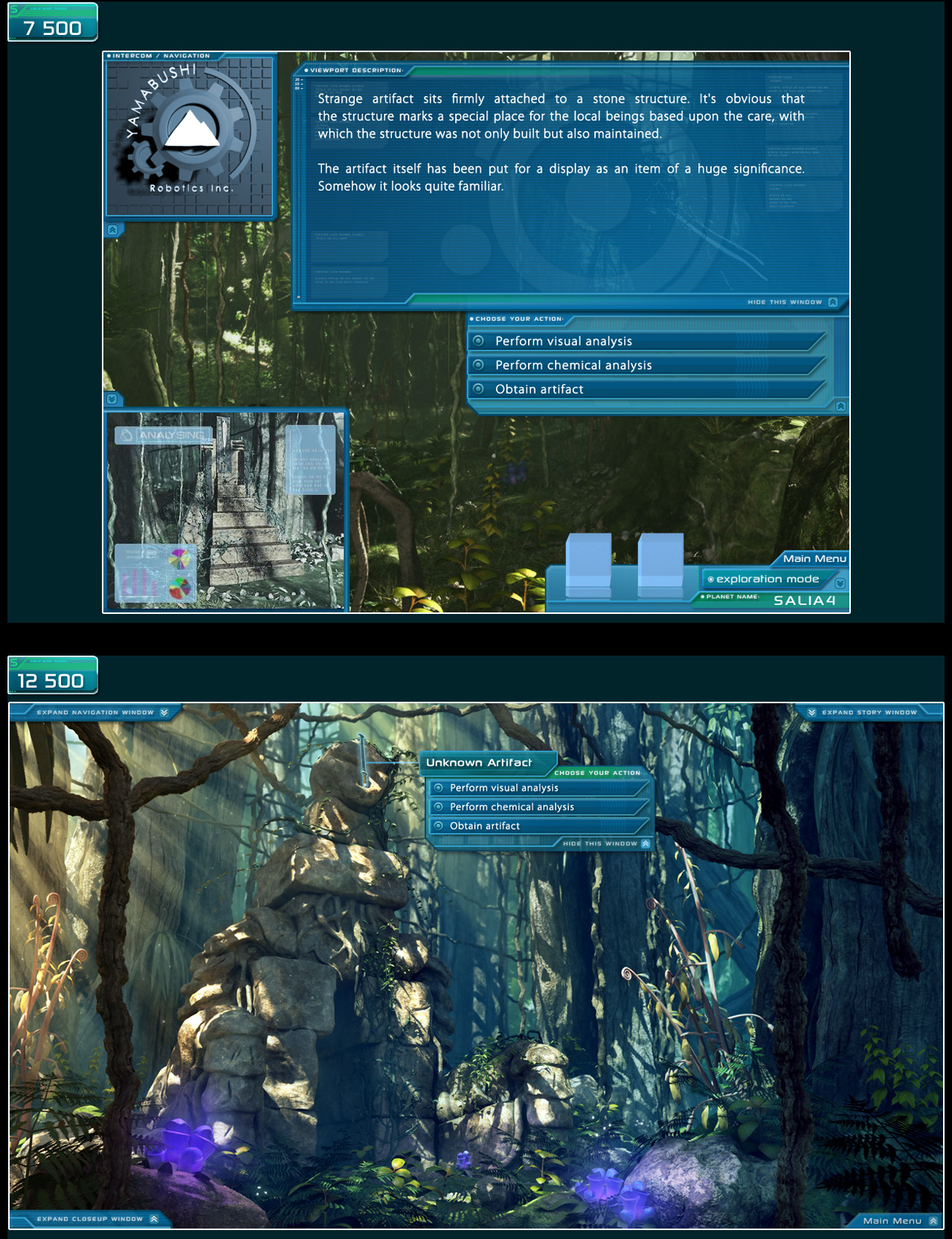Comparison of visual levels between sotry expansion and full screen exploration stretch goal